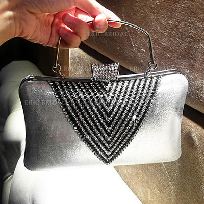 """Clutches/Totes Ceremony & Party Crystal/ Rhinestone/PU Classical 8.27""""(Approx.21cm) Clutches & Evening Bags (012187279)"""