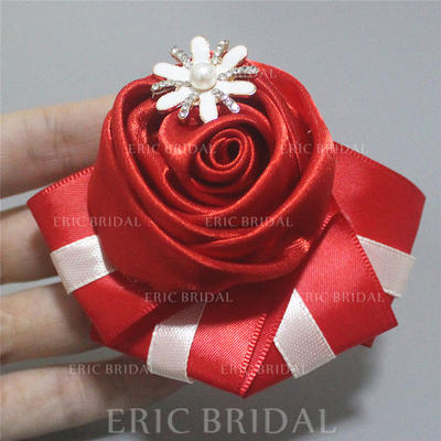 """Boutonniere Free-Form Wedding/Party/Casual Satin 4.72"""" (Approx.12cm) Wedding Flowers (123190549)"""