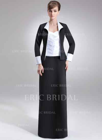 Sheath/Column Sweetheart Floor-Length Mother of the Bride Dresses With Ruffle Beading (008211230)