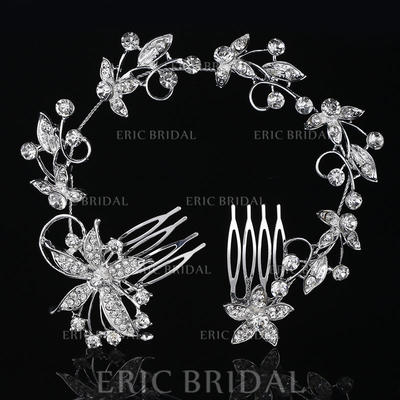 "Combs & Barrettes Wedding/Special Occasion Rhinestone/Alloy 10.63""(Approx.27cm) 2.37""(Approx.6cm) Headpieces (042158792)"