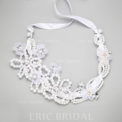 """Headbands Wedding/Special Occasion/Party Rhinestone/Imitation Pearls/Tulle 15.35""""(Approx.39cm) 3.54""""(Approx.9cm) Headpieces (042155301)"""