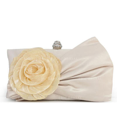 Clutches Wedding/Ceremony & Party Silk/Lace Clip Closure Gorgeous Clutches & Evening Bags (012184347)