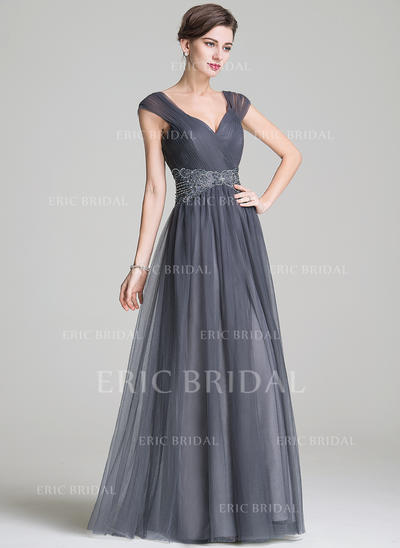 A-Line/Princess Sweetheart Floor-Length Mother of the Bride Dresses With Ruffle Beading Appliques Lace Sequins (008211132)