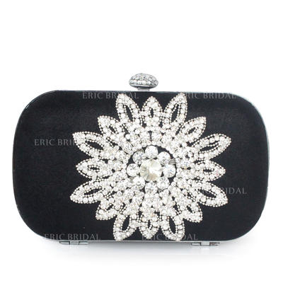 Clutches Ceremony & Party Silk Clip Closure Elegant Clutches & Evening Bags (012184787)