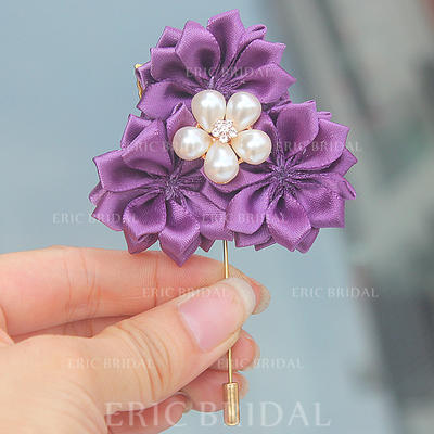 "Boutonniere Free-Form Wedding/Party Satin 2.76"" (Approx.7cm) Wedding Flowers (123190407)"
