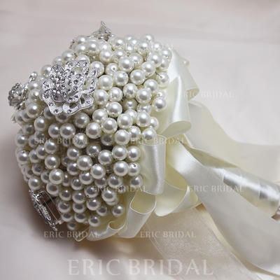 "Bridal Bouquets Round Wedding Rhinestone/Imitation Pearl 10.24""(Approx.26cm) Wedding Flowers (123188905)"