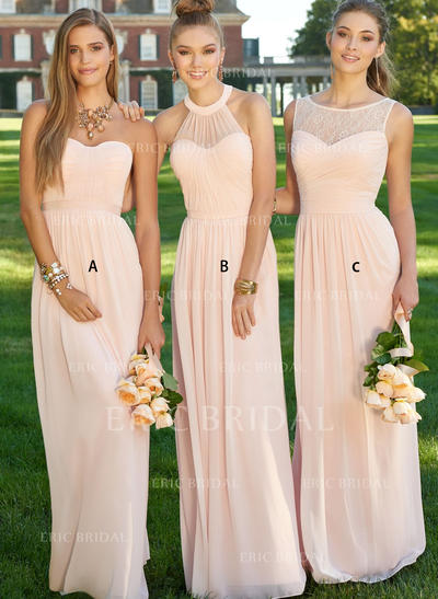 A-Line/Princess Sweetheart Floor-Length Bridesmaid Dresses With Ruffle (007211585)