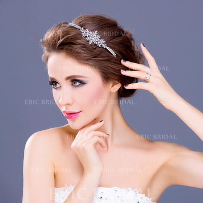 "Headbands Wedding/Special Occasion/Party Rhinestone/Alloy/Silver Plated 5.91""(Approx.15cm) 1.18""(Approx.3cm) Headpieces (042154647)"
