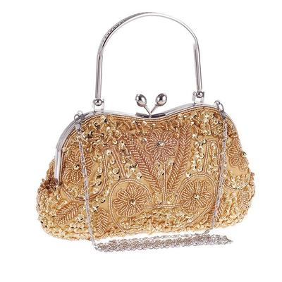 Wristlets Wedding/Ceremony & Party Sequin/Alloy Kiss lock closure Elegant Clutches & Evening Bags (012186337)