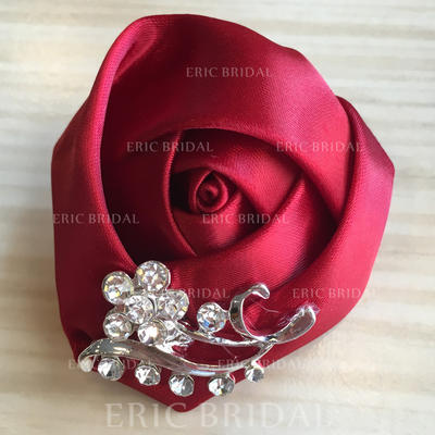 "Boutonniere Round Wedding/Party Satin 2.36""(Approx.6cm) Wedding Flowers (123190077)"