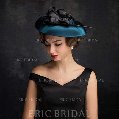 Feather/Net Yarn/Tulle With Feather Fascinators Classic Ladies' Hats (196194241)