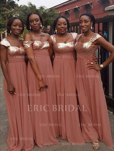 A-Line/Princess Sweetheart Floor-Length Bridesmaid Dresses With Ruffle (007145018)
