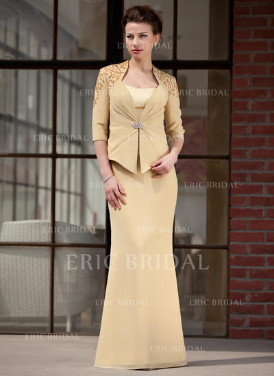 Trumpet/Mermaid Sweetheart Floor-Length Mother of the Bride Dresses (008211451)