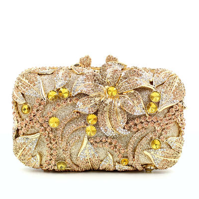 Clutches Wedding/Ceremony & Party Composites Kiss lock closure Elegant Clutches & Evening Bags (012187935)