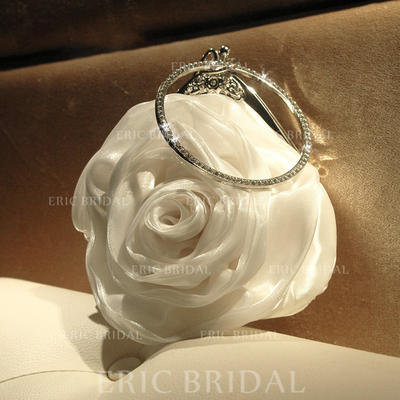 Clutches/Satchel Ceremony & Party Satin/Crystal/ Rhinestone Lovely Clutches & Evening Bags (012187275)