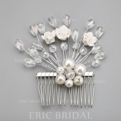 "Combs & Barrettes Wedding/Special Occasion/Party Alloy/Imitation Pearls 3.94""(Approx.10cm) 3.94""(Approx.10cm) Headpieces (042154312)"