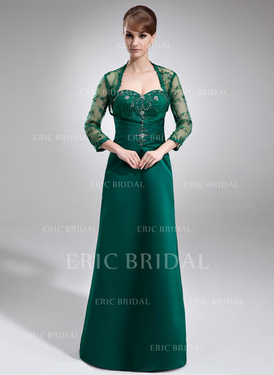 A-Line/Princess Sweetheart Sweep Train Mother of the Bride Dresses With Ruffle Lace Beading (008006213)