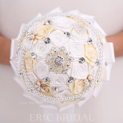 "Bridal Bouquets Round Wedding Satin 10.24""(Approx.26cm) Wedding Flowers (123189102)"