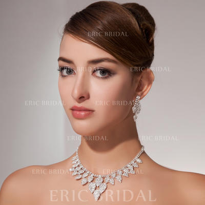 Jewelry Sets Alloy Rhinestone Lobster Clasp Earclip Wedding & Party Jewelry (011160021)