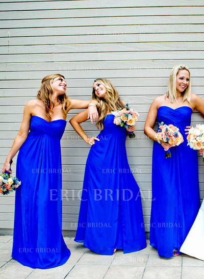 A-Line/Princess Sweetheart Floor-Length Bridesmaid Dresses With Ruffle (007211692)