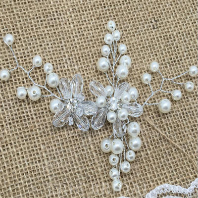 "Hairpins Wedding/Special Occasion/Casual/Outdoor/Party/Art photography Crystal/Rhinestone/Imitation Pearls 5.91""(Approx.15cm) 5.91""(Approx.15cm) Headpieces (042159309)"