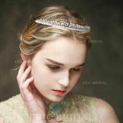 """Tiaras Wedding/Special Occasion/Casual Crystal/Alloy 7.87""""(Approx.20cm) 0.63""""(Approx.1.6cm) Headpieces (042156637)"""