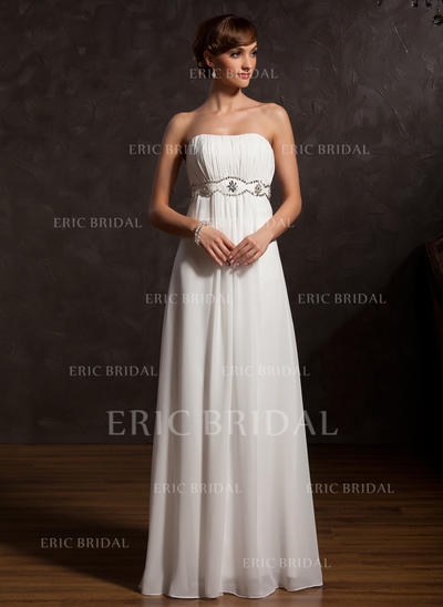 Empire Sweetheart Floor-Length Mother of the Bride Dresses With Ruffle Beading (008211384)