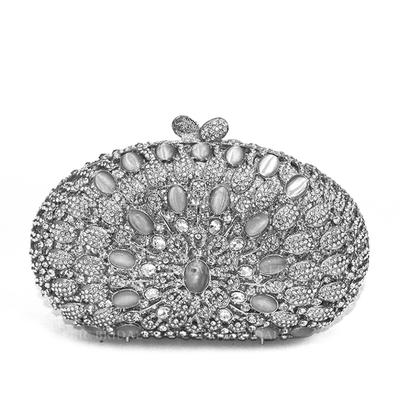 Clutches/Wallets & Accessories/Bridal Purse/Fashion Handbags/Makeup Bags Wedding/Ceremony & Party/Casual & Shopping Alloy Elegant Clutches & Evening Bags (012187837)