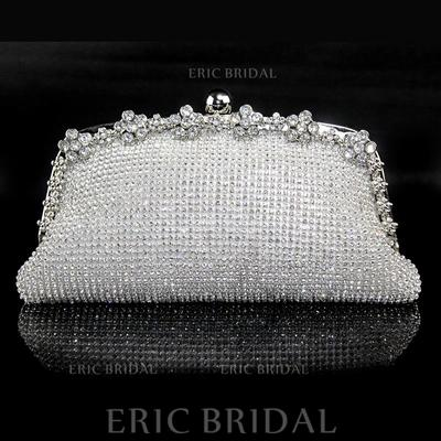 Clutches Wedding/Ceremony & Party Crystal/ Rhinestone Clip Closure Rhinestone Style Clutches & Evening Bags (012185146)