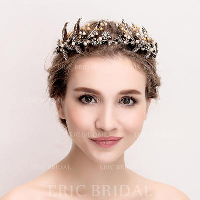 """Tiaras Wedding/Special Occasion Alloy/Imitation Pearls 14.17""""(Approx.36cm) 2.76""""(Approx.7cm) Headpieces (042158355)"""