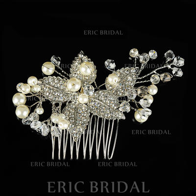 """Combs & Barrettes Wedding/Special Occasion Alloy/Imitation Pearls 3.74""""(Approx.9.5cm) 2.36""""(Approx.6cm) Headpieces (042156348)"""