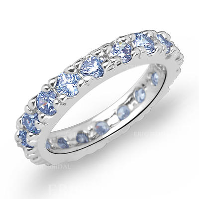 Rings Zircon/Platinum Plated Ladies' Shining Wedding & Party Jewelry (011166710)