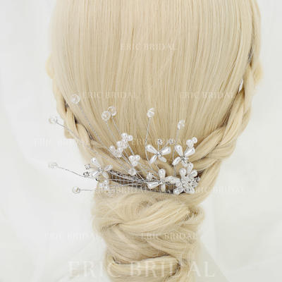 "Combs & Barrettes Wedding/Special Occasion/Party Rhinestone/Alloy/Imitation Pearls 5.31""(Approx.13.5cm) 3.15""(Approx.8cm) Headpieces (042155270)"