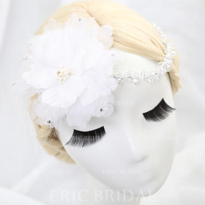 "Flowers & Feathers Wedding/Special Occasion/Party Tulle 11.42""(Approx.29cm) 3.94""(Approx.10cm) Headpieces (042154305)"