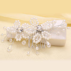 """Combs & Barrettes Wedding/Party Crystal/Imitation Pearls 5.53""""(Approx.14cm) 2.37""""(Approx.6cm) Headpieces"""