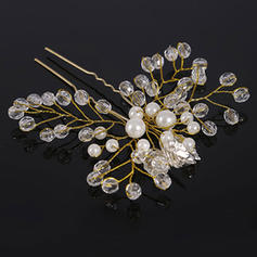 "Hairpins Wedding Crystal/Imitation Pearls 4.33""(Approx.11cm) 3.94""(Approx.10cm) Headpieces"
