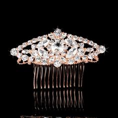 """Combs & Barrettes Wedding/Special Occasion/Party/Carnival Rhinestone/Alloy 3.58""""(Approx.9.1cm) 2.37""""(Approx.6cm) Headpieces"""
