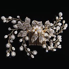 "Combs & Barrettes Wedding/Special Occasion Rhinestone/Alloy/Imitation Pearls 6.69""(Approx.17cm) 2.76""(Approx.7cm) Headpieces"