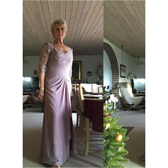 A-Line/Princess Sweetheart Floor-Length Mother of the Bride Dresses With Appliques Lace
