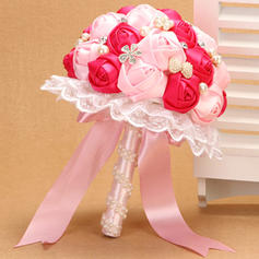 """Bridal Bouquets Wedding Satin 10.24""""(Approx.26cm) Color & Style representation may vary by monitor/Due to it is handmade/ slight difference is unavoidable. Wedding Flowers"""