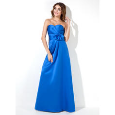 Empire Sweetheart Floor-Length Bridesmaid Dresses With Ruffle Bow(s) (007000939)