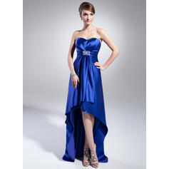 Empire Sweetheart Asymmetrical Evening Dresses With Beading Sequins (017014988)