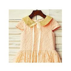 gold and purple flower girl dresses