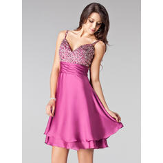 Empire Sweetheart Short/Mini Homecoming Dresses With Beading Sequins (022020831)