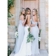mint green maxi bridesmaid dresses