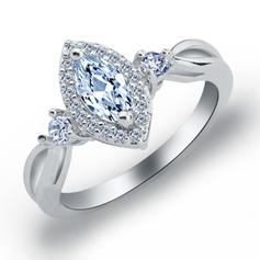 Rings Copper/Zircon/Platinum Plated Ladies' Exquisite Wedding & Party Jewelry