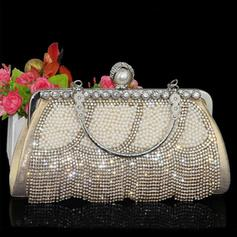 """Clutches/Wristlets Wedding/Ceremony & Party/Casual & Shopping Crystal/ Rhinestone/Polyester/Imitation Pearl Shining 9.45""""(Approx.24cm) Clutches & Evening Bags"""