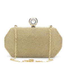 Clutches/Bridal Purse Wedding/Ceremony & Party Crystal/ Rhinestone/Tulle Snap Closure Elegant Clutches & Evening Bags