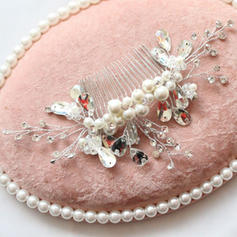 """Combs & Barrettes Wedding/Special Occasion/Party Alloy/Imitation Pearls 7.68""""(Approx.19.5cm) 3.54""""(Approx.9cm) Headpieces"""