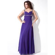 Empire Sweetheart Floor-Length Evening Dresses With Ruffle Beading Sequins